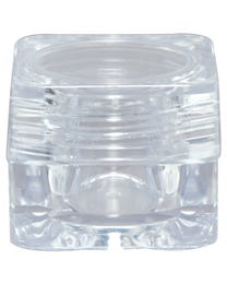 """ForPro Clear Plastic Jar with Clear Lid, Square Storage Containers, for Cosmetics, Food, Medicine, and Paint, .17 Ounces, .9"""" H x 1.1"""" D, 48-Count"""