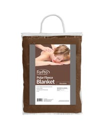 """ForPro Polar Fleece Blanket, Chocolate, Lightweight, Extra-Soft, for Massage Tables, Beds, and Sofas, 63"""" W x 90"""" L"""