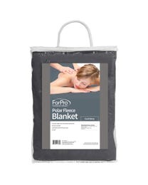 """ForPro Polar Fleece Blanket, Cool Grey, Lightweight, Extra-Soft, for Massage Tables, Beds, and Sofas, 63"""" W x 90"""" L"""