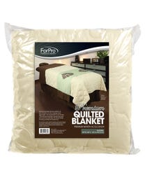 """ForPro Premium Quilted Blanket, Natural, Lightweight, Wrinkle-Resistant, for Massage Tables, Beds, and Sofas, 58"""" W x 85"""" L"""