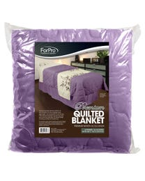 """ForPro Premium Quilted Blanket, Lavender, Lightweight, Wrinkle-Resistant, for Massage Tables, Beds, and Sofas, 58"""" W x 85"""" L"""