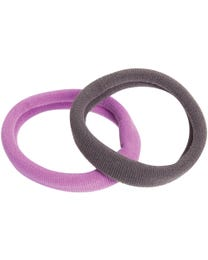 ForPro Comfy Ponytail Holders, Assorted Colors, 100% Seamless Fabric, Ultra-Comfortable, Non-Damaging, 12-Count
