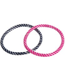 ForPro Comfy Hair Elastics, Assorted Colors, Fabric Covered, Metal-Free for Ponytails and Braids, 25-Count